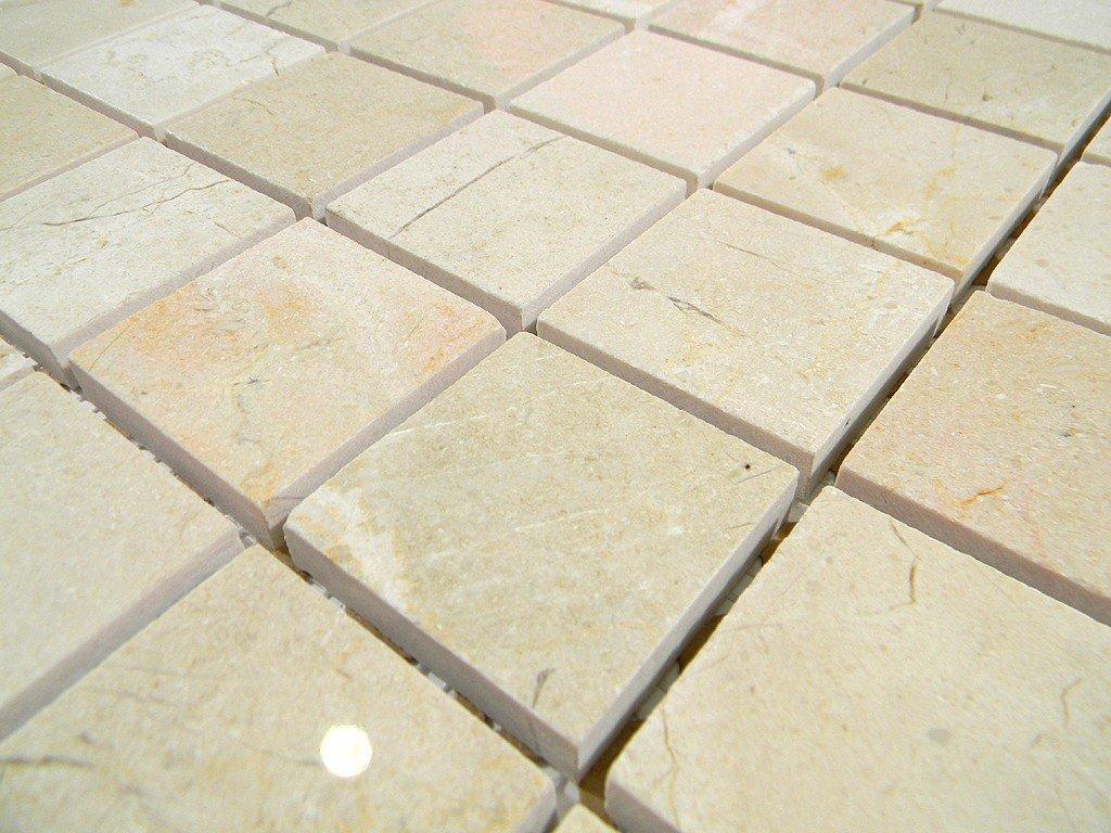 - Crema Marfil Polish 2x2 Mosaic Tile