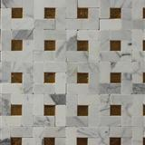 Volakas Marble Mosaic,White Marble Mosaic China Manufacture ML-144