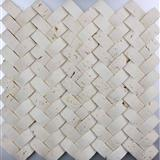 China Travertine Mosaic Manufacture NVTRAV001